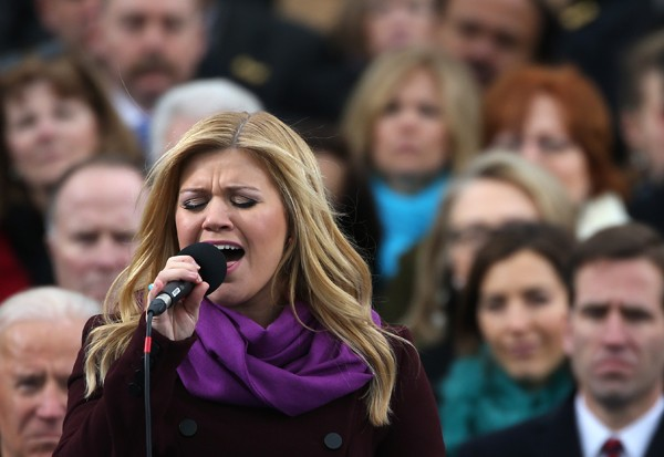 Kelly Clarkson Performs At The 2013 Inauguration
