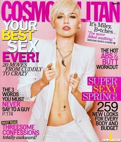 Miley Cyrus Cosmopolitan Cover