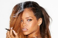Rihanna Lights Up Terry Richardson's Studio, Then Smokes A Cigarette