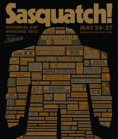 Sasquatch Festival 2013 Line-Up Poster