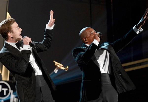 Justin Timberlake Jay-Z Grammys 2013 Suit Tie
