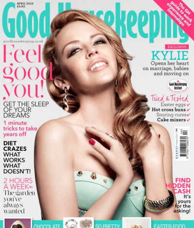 Kylie MInogue good housekeeping UK April 2013 cover