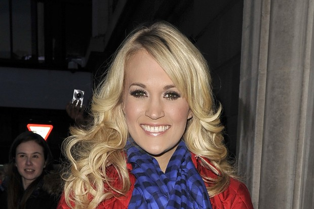 Carrie Underwood arriving at the BBC Radio 2 studios