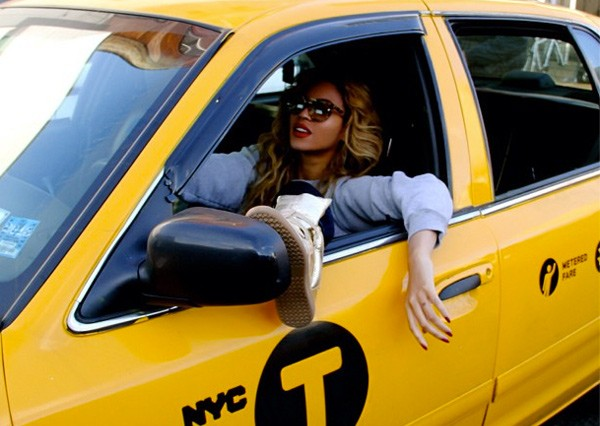 Beyonce Taxi NYC Instagram