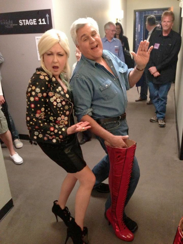 cyndi lauper jay leno tonight show kinky boots 2013
