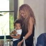 Beyonce Knowles Jay-Z Take Daughter Blue Ivy Carter Out To Lunch In Paris