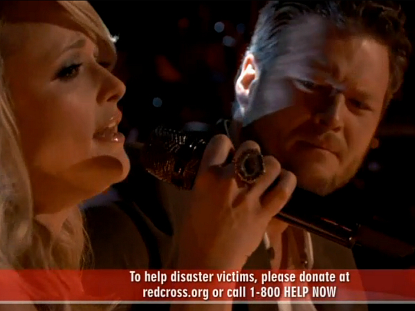 miranda lambert blake shelton the voice oklahoma over your tornado victims may 2013