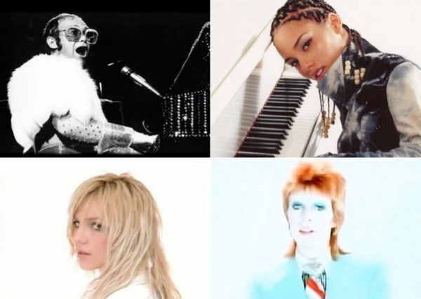elton john alicia keys britney spears david bowie