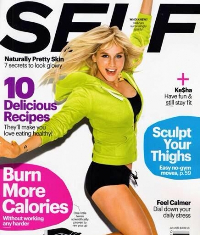 Ke$ha On Self Magazine July