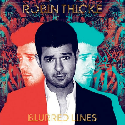 robin thicke blurred lines album cover art