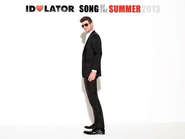 robin thicke blurred lines idolator song of the summer 2013