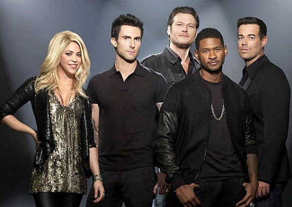 the voice season 4 shakira carson daly adam levine usher blake shelton