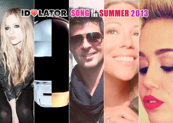 idolator song of the summer 2013 mariah carey miguel daft punk robin thicke miley cyrus avril lavigne