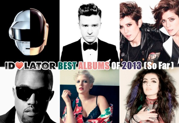 idolator best albums 2013 daft punk justin timberlake tegan sara kanye west betty who charli xcx