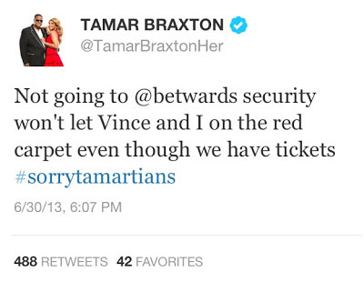 Tamar Braxton BET Awards