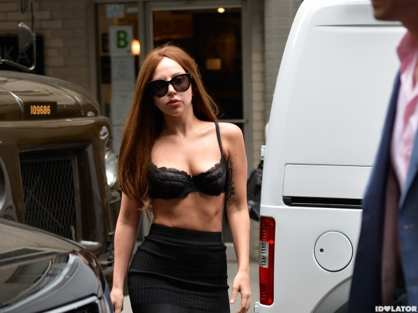 Lady Gaga — Shirtless In New York