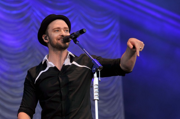 Justin Timberlake performs at Phoenix Park