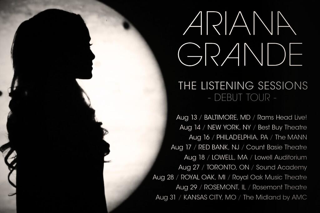 Ariana Grande The Listening Sessions Tour