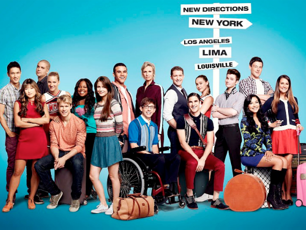 glee season 4 cast cory monteith lea michele chris colfer darren criss