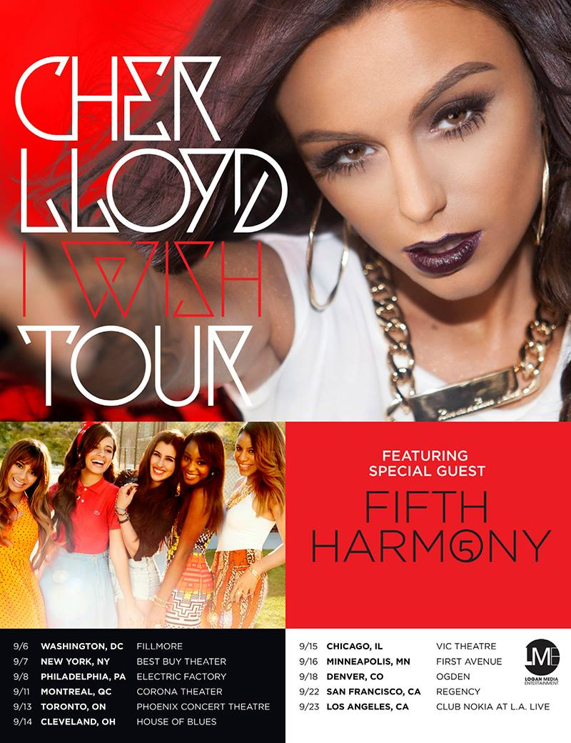 cher lloyd fifth harmony tour poster