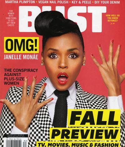 Janelle Monae Covers 'BUST' Magazine: The Electric Lady ...  Janelle Monae C...