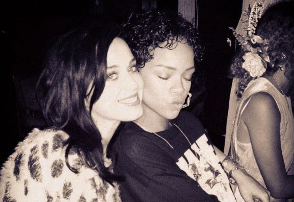 Katy perry amp rihanna reunite in new york city for dinner with john