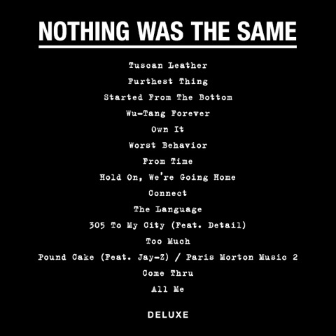 Drake nothing was the same tracklist