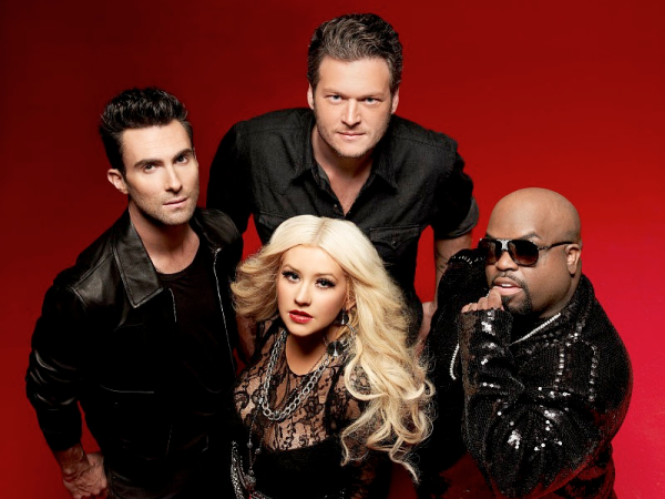 the voice adam levine blake shelton christina aguilera cee lo green