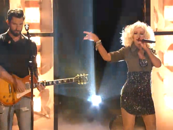 the voice christina aguilera adam levine season 5 2013 i love rock n roll