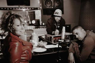 Mariah Carey Hits The Studio With Nas & Jermaine Dupri