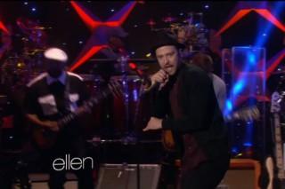 """Justin Timberlake Performs """"TKO"""" on 'Ellen', Talks 'N Sync VMA Reunion"""