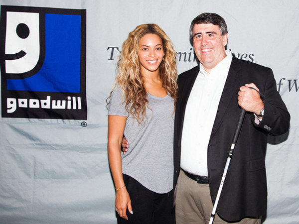 Beyonce and Goodwill CEO Jim Gibbons