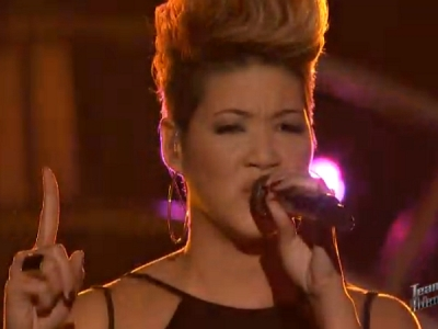 """'The Voice': Tessanne Chin Does Katy Perry's """"Unconditionally,"""" Jacquie Lee Takes On Xtina"""