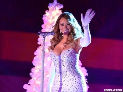 Mariah Carey Shines At The Annual Rockefeller Center Christmas Tree Lighting Ceremony: 9 Pics