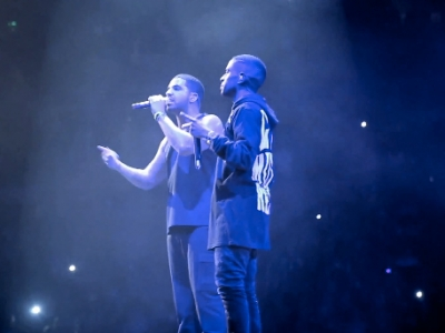 """Watch Drake Bring Out Big Sean For """"All Me"""" In Detroit"""