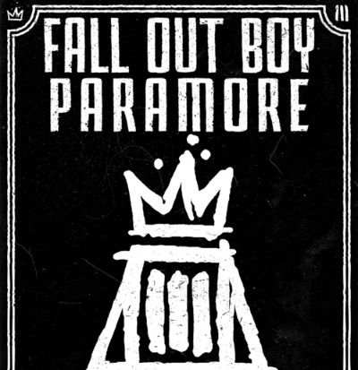 fall out boy paramore tour poster