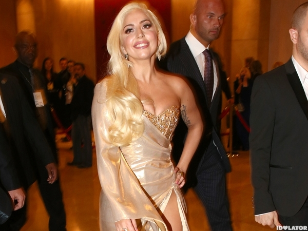 Lady Gaga Shimmers At Golden Globes Party