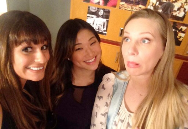 lea michele glee 100th episode jenna ushkowitz heather morris