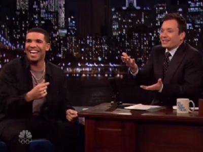 Drake Talks 'SNL' & Weed, Plays Beer Hockey On 'Late Night With Jimmy Fallon': Watch