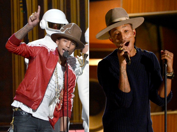 pharrell grammys hats