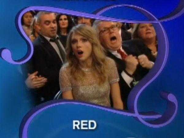 taylor swift surprise face grammys