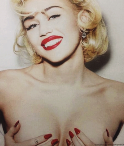 miley topless vogue