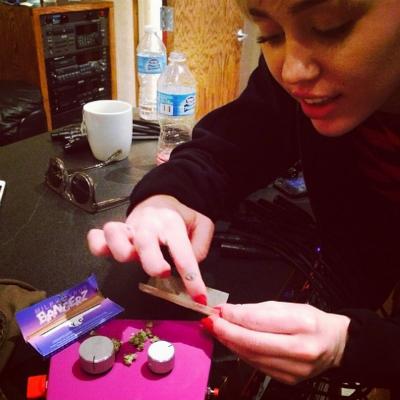 miley cyrus weed studio
