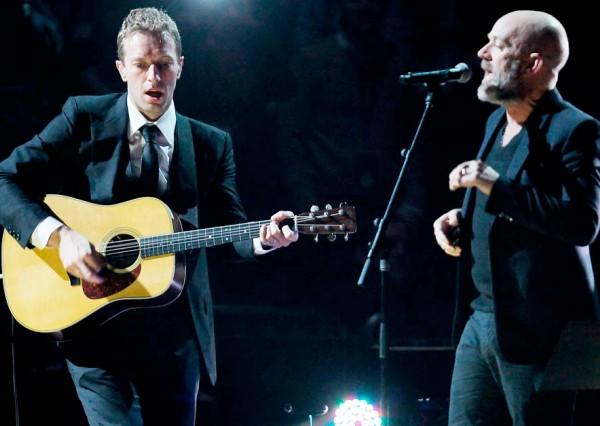 Chris Martin Coldplay Michael Stipe R.E.M.