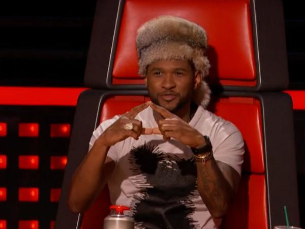 'The Voice' Recap: Chris Martin, Usher's Raccoon Hat Make ...  Usher Afro The Voice