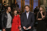 Taylor Swift Interrupts Seth Rogen During 'SNL' Monologue: Watch