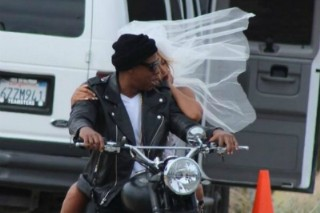 "Beyonce & Jay Z Channel Kim & Kanye's ""Bound 2″ Motorcycle Ride For Mystery Shoot"