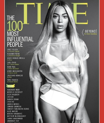 beyonce time 100 cover