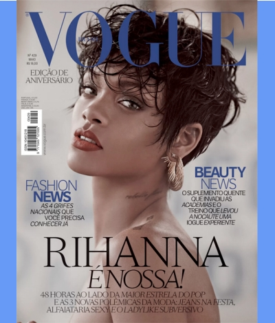 shirtless topless vogue brazil rihanna may 2014 topless nude breasts boobs