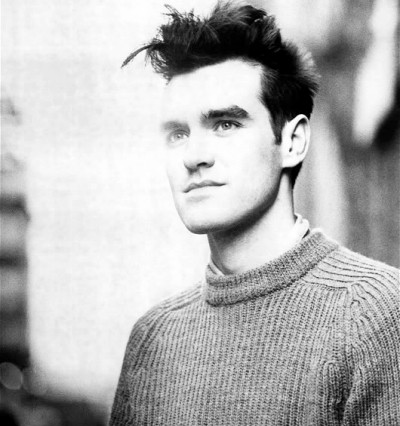 Morrissey young black and white